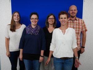 von links nach rechts: Christina Kiebel, Alexandra Schröder-Eibes, Sabine Finken, Kerstin Wegmann, Tobias Boemer