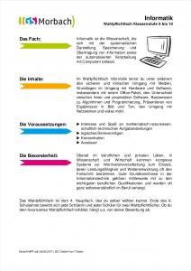 Infoheft WPF